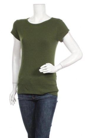 Дамска тениска Cynthia Rowley, Размер L, Цвят Зелен, 48% памук, 48% модал, 4% еластан, Цена 9,92лв.