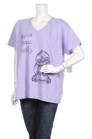 Дамска тениска Disney, Размер XXL, Цвят Лилав, Памук, Цена 29,40лв.