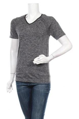 Γυναικείο t-shirt Energetics, Μέγεθος L, Χρώμα Γκρί, 60% πολυαμίδη, 35% πολυεστέρας, 5% ελαστάνη, Τιμή 6,17€