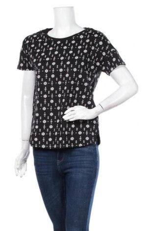 Дамска тениска Esprit, Размер M, Цвят Черен, Памук, Цена 14,28лв.
