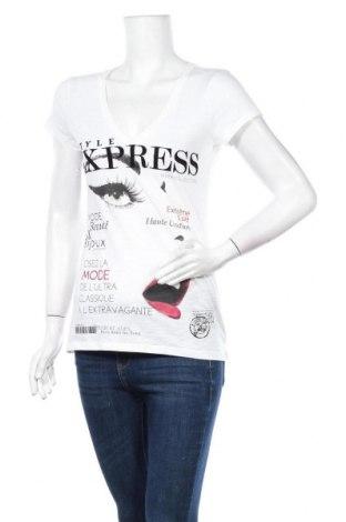 Γυναικείο t-shirt Express, Μέγεθος S, Χρώμα Λευκό, Βαμβάκι, Τιμή 9,35€