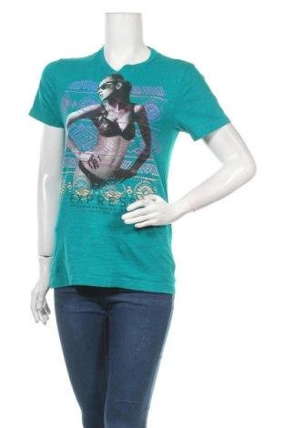 Γυναικείο t-shirt Express, Μέγεθος S, Χρώμα Πράσινο, Βαμβάκι, Τιμή 9,38€