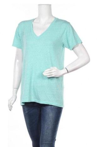 Дамска тениска Forever 21, Размер L, Цвят Зелен, 55% памук, 34% полиестер, 11% вискоза, Цена 6,62лв.