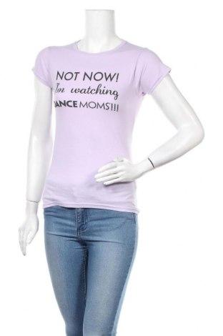 Дамска тениска Gildan, Размер S, Цвят Лилав, Памук, Цена 17,01лв.