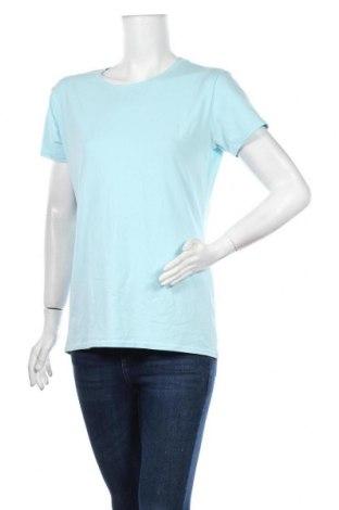 Дамска тениска Giordano, Размер XL, Цвят Син, 90% памук, 10% еластан, Цена 13,86лв.