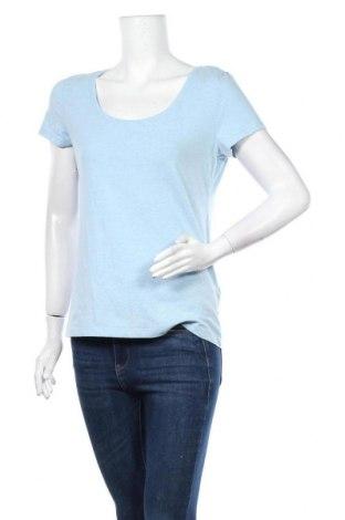 Дамска тениска H&M, Размер L, Цвят Син, 57% памук, 38% полиестер, 5% еластан, Цена 8,51лв.