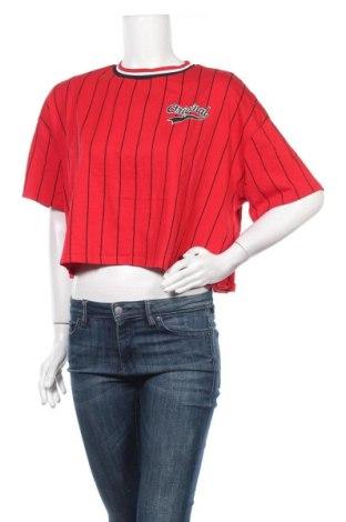 Дамска тениска H&M Divided, Размер L, Цвят Червен, 100% памук, Цена 9,24лв.
