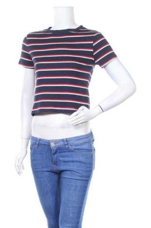 Дамска тениска H&M Divided, Размер L, Цвят Син, 95% памук, 5% еластан, Цена 25,73лв.