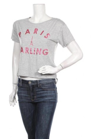 Дамска тениска H&M Divided, Размер S, Цвят Сив, 66% полиестер, 34% вискоза, Цена 7,56лв.