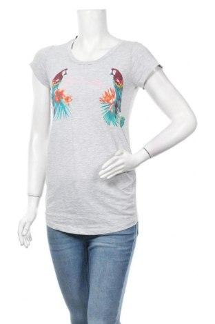 Дамска тениска H&M Mama, Размер S, Цвят Сив, 59% памук, 41% полиестер, Цена 13,23лв.