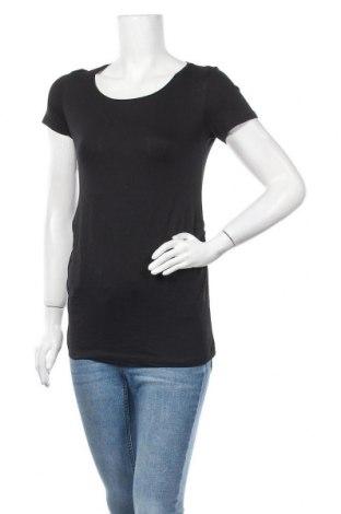 Дамска тениска H&M Mama, Размер S, Цвят Черен, Памук, Цена 22,05лв.