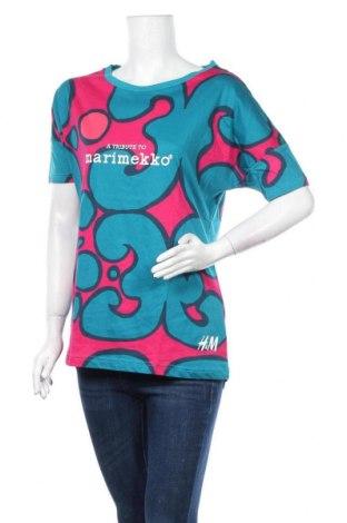 Дамска тениска H&M Marimekko Collection, Размер S, Цвят Многоцветен, Памук, Цена 18,90лв.