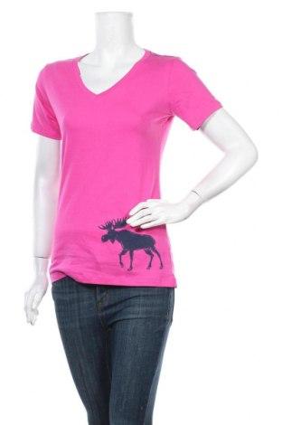 Дамска тениска Hatley, Размер S, Цвят Розов, Памук, Цена 17,64лв.