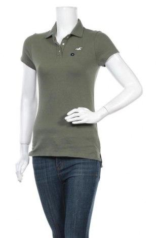 Дамска тениска Hollister, Размер M, Цвят Зелен, 96% памук, 4% еластан, Цена 25,94лв.