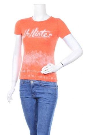 Дамска тениска Hollister, Размер S, Цвят Оранжев, Цена 13,97лв.