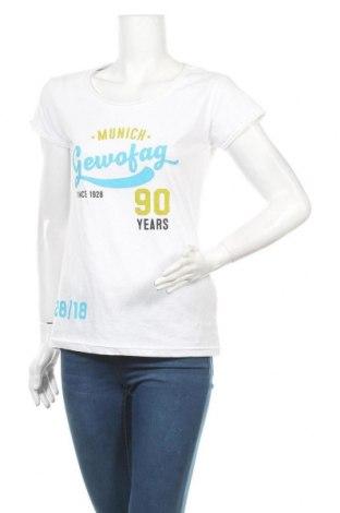 Дамска тениска James & Nicholson, Размер M, Цвят Бял, Памук, Цена 13,44лв.