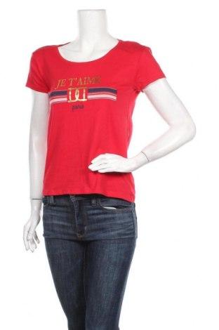 Дамска тениска Jean Pascale, Размер S, Цвят Червен, 96% памук, 4% еластан, Цена 7,14лв.