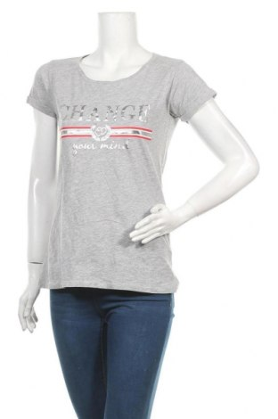 Дамска тениска Jean Pascale, Размер S, Цвят Сив, 93% памук, 7% вискоза, Цена 7,56лв.
