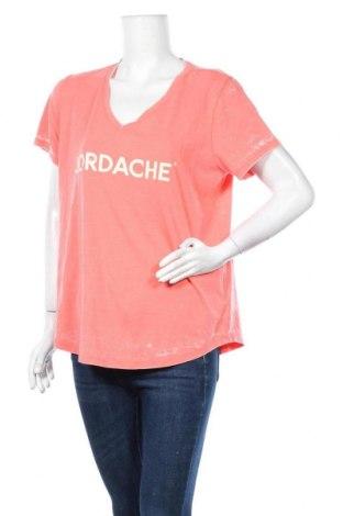 Дамска тениска Jordache, Размер XL, Цвят Розов, 56% памук, 44% полиестер, Цена 11,81лв.