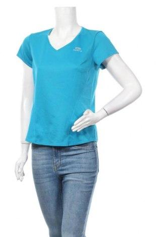 Дамска тениска Kalenji, Размер M, Цвят Син, Полиестер, Цена 4,46лв.