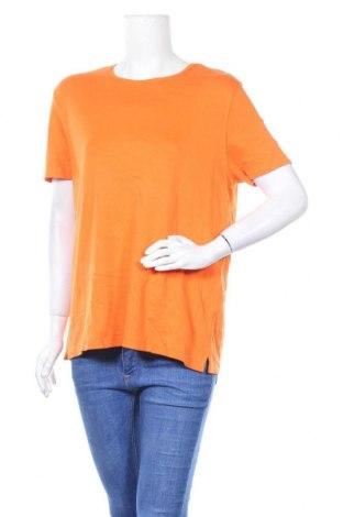 Дамска тениска Karen Scott, Размер L, Цвят Оранжев, Памук, Цена 12,60лв.