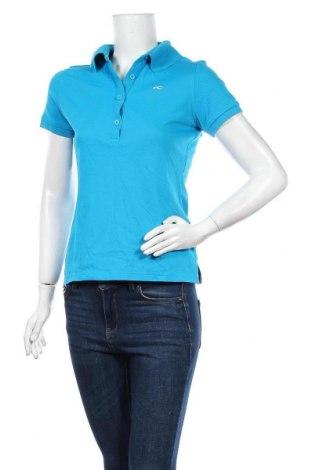 Дамска тениска Kjus, Размер M, Цвят Син, 60% полиамид, 40% памук, Цена 51,87лв.