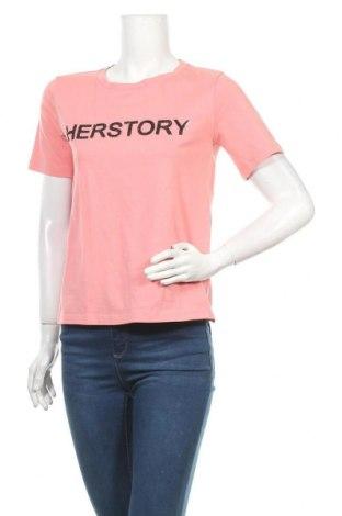 Дамска тениска Laurel, Размер S, Цвят Розов, 95% памук, 5% еластан, Цена 18,11лв.