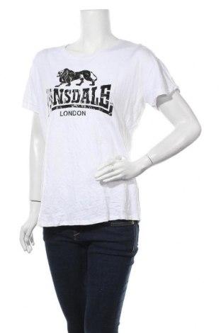 Дамска тениска Lonsdale, Размер XL, Цвят Бял, Вискоза, памук, Цена 13,23лв.