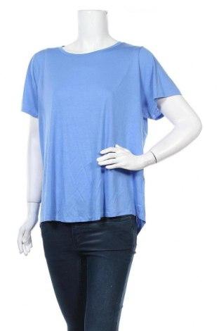 Дамска тениска Marks & Spencer, Размер 3XL, Цвят Син, 65% полиестер, 35% вискоза, Цена 28,56лв.