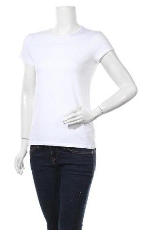 Дамска тениска Massimo Dutti, Размер XL, Цвят Бял, 92% памук, 8% еластан, Цена 18,90лв.