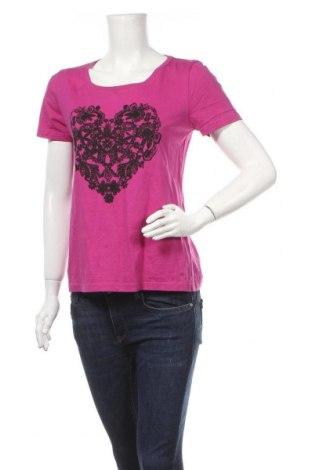 Γυναικείο t-shirt Michele Boyard, Μέγεθος L, Χρώμα Ρόζ , Βαμβάκι, Τιμή 9,38€