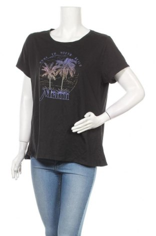 Дамска тениска Mix, Размер XXL, Цвят Черен, Полиестер, памук, Цена 10,40лв.