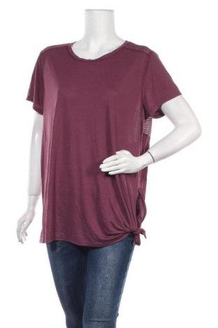 Дамска тениска Mix, Размер XXL, Цвят Лилав, Полиестер, вискоза, Цена 16,80лв.
