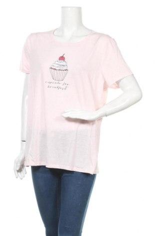 Дамска тениска Mix, Размер XXL, Цвят Розов, Полиестер, памук, Цена 14,70лв.