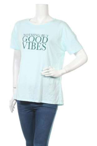 Дамска тениска Mix, Размер XL, Цвят Син, Полиестер, памук, Цена 16,80лв.