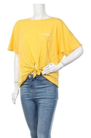 Дамска тениска Mossimo, Размер XL, Цвят Жълт, Памук, Цена 14,70лв.