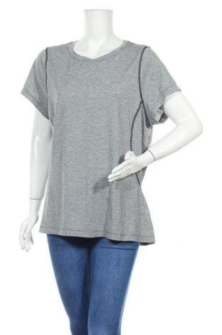 Дамска тениска Moving Comfort, Размер XXL, Цвят Сив, 83% полиестер, 11% лиосел, 6% еластан, Цена 16,38лв.