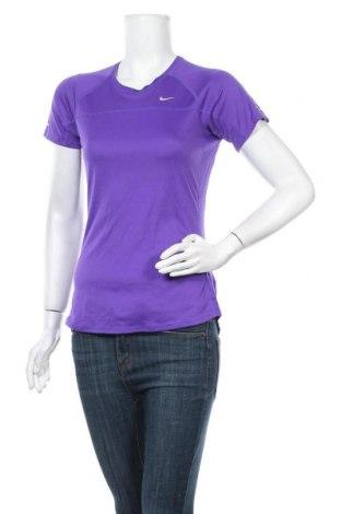 Дамска тениска Nike, Размер S, Цвят Син, Полиестер, Цена 18,48лв.