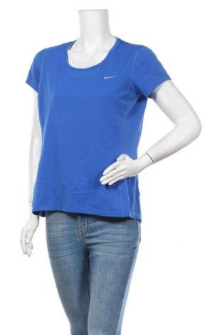 Дамска тениска Nike Running, Размер L, Цвят Син, Полиестер, Цена 18,90лв.