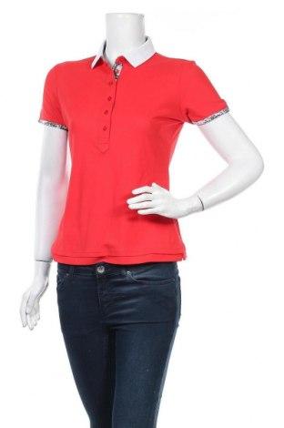 Дамска тениска Nivo, Размер XS, Цвят Червен, 50% памук, 50% полиестер, Цена 7,56лв.