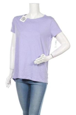 Дамска тениска Old Navy, Размер XXL, Цвят Лилав, 60% памук, 40% полиестер, Цена 15,70лв.