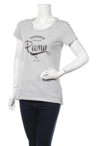 Дамска тениска PUMA, Размер M, Цвят Сив, Памук, Цена 19,11лв.