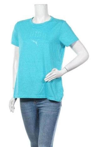Дамска тениска PUMA, Размер L, Цвят Син, 65% полиестер, 35% памук, Цена 23,52лв.