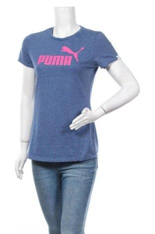 Γυναικείο t-shirt PUMA, Μέγεθος M, Χρώμα Μπλέ, Τιμή 18,19€