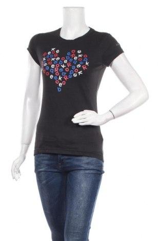 Γυναικείο t-shirt Reebok, Μέγεθος S, Χρώμα Μαύρο, 53% βαμβάκι, 47% μοντάλ, Τιμή 12,34€