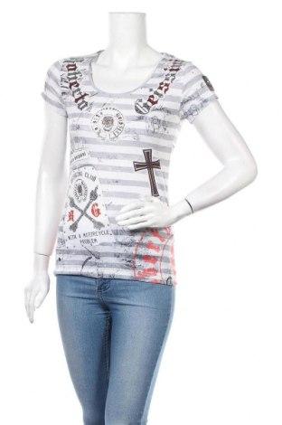 Дамска тениска Roberto Geissini, Размер S, Цвят Многоцветен, 95% памук, 5% еластан, Цена 17,01лв.