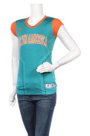 Дамска тениска Russell Athletic, Размер M, Цвят Зелен, Цена 4,46лв.