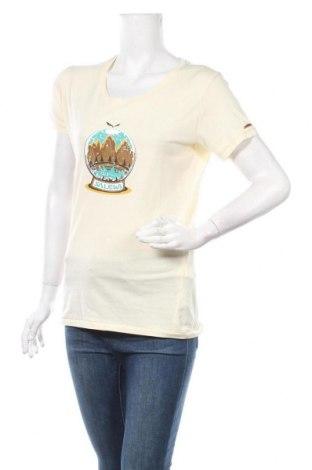 Дамска тениска Salewa, Размер M, Цвят Жълт, Памук, Цена 32,64лв.