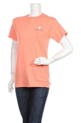 Дамска тениска Simply Southern, Размер S, Цвят Оранжев, Памук, Цена 13,92лв.