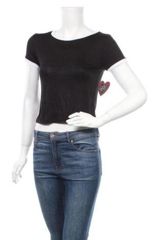 Дамска тениска Splash, Размер M, Цвят Черен, 95% вискоза, 5% еластан, Цена 5,51лв.